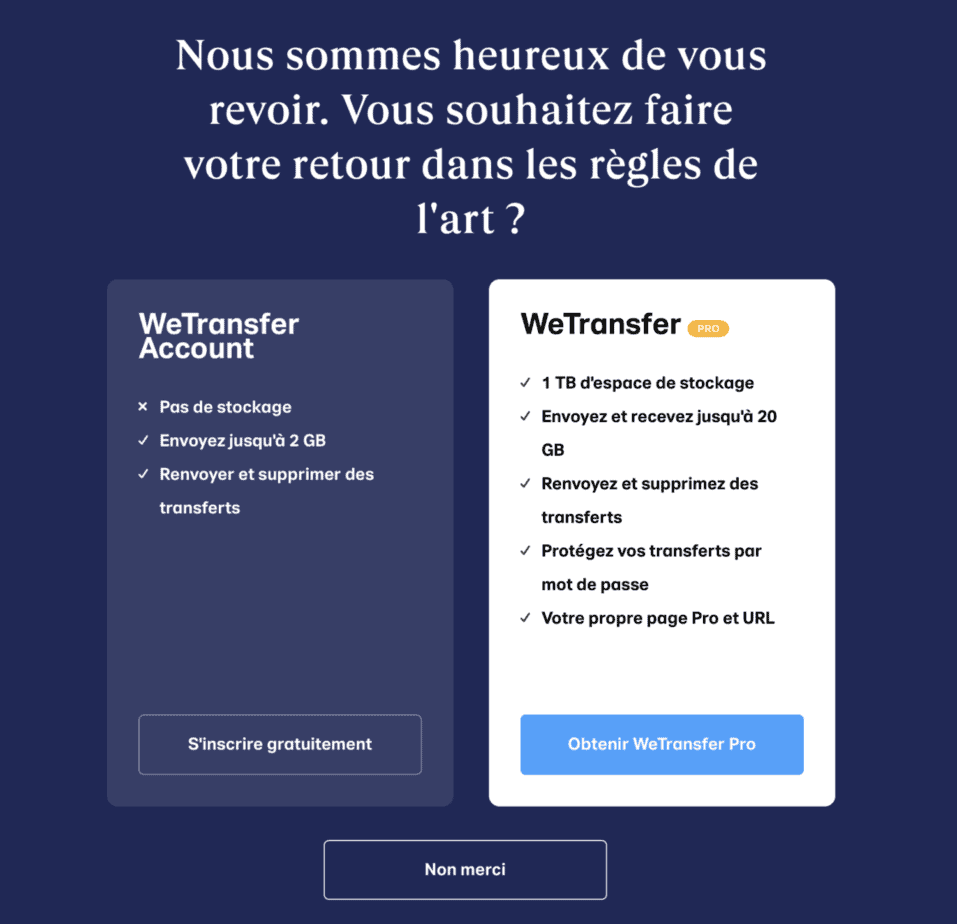 wetransfer tutoriel
