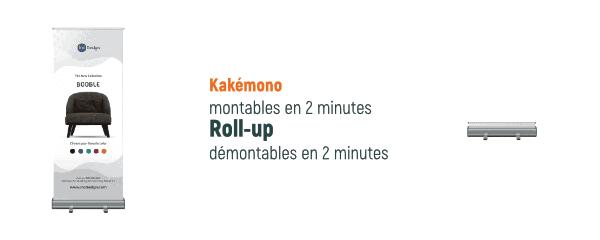 montage-démontage roll-up kakémono