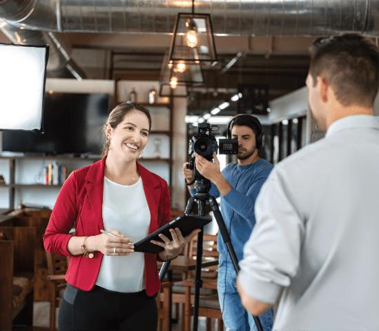 video interview tournage